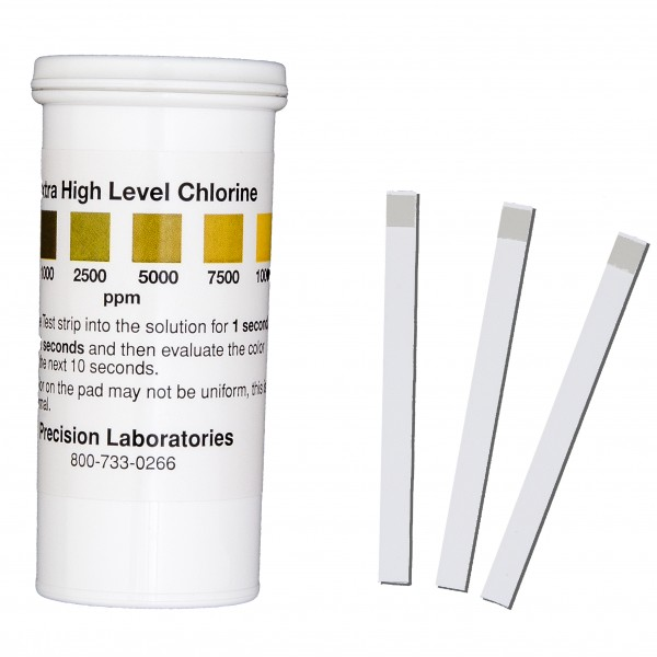 Potency and residues Test Strip of disinfectant - Precision Laboratories Test Strips